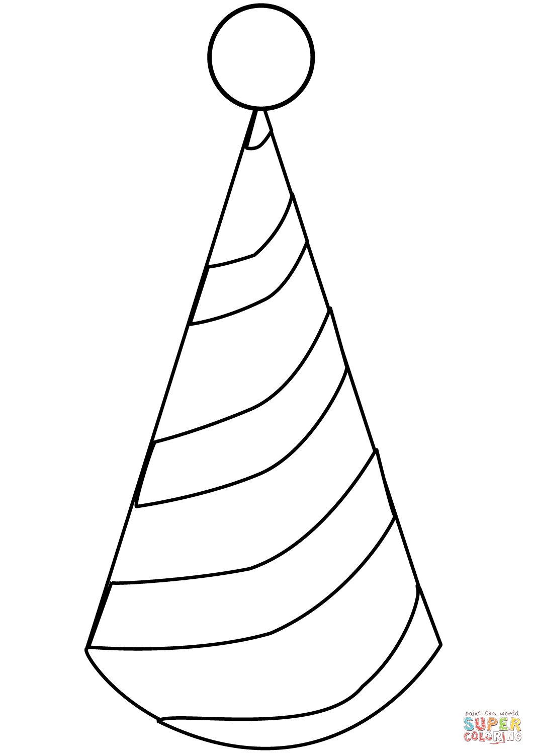 Party Hat Coloring Page | Free Printable Coloring Pages - Free Printable Birthday Party Hats