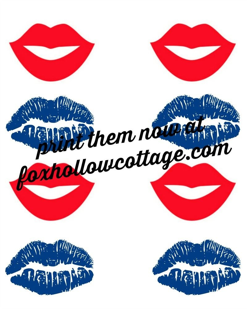Patriotic Lip And Mustache Printables: Free Photo Props | Crafty 2 - Free Lip And Mustache Printables