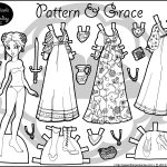 Patterns & Grace: A Black & White Fantasy Paper Doll | Barbie All   Medieval Paper Dolls Free Printable