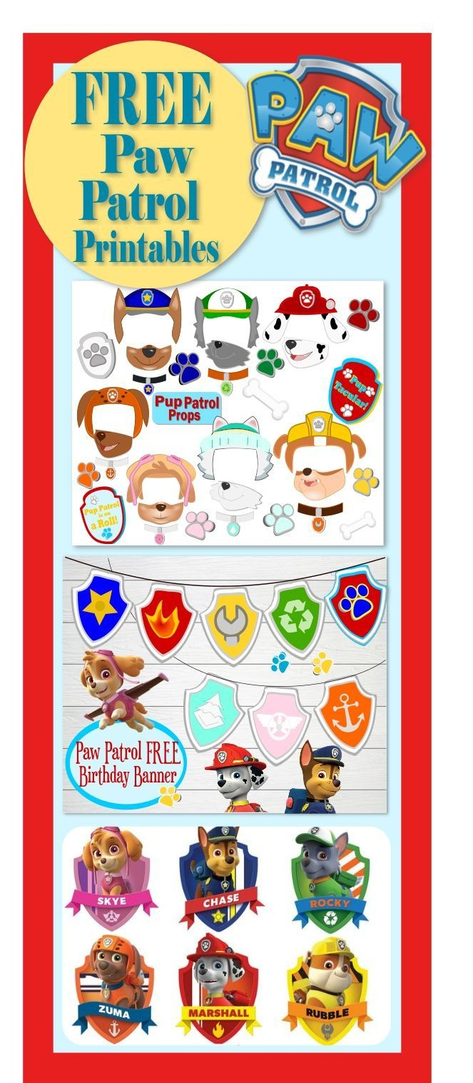 Paw Patrol Birthday- Party- Pup-Tastic Ideas! | Paw Patrol Party - Free Paw Patrol Birthday Printables