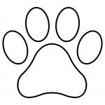 Paw Print Template Shape Lots Of Different Sizes | Teacher Resources   Free Printable Shapes Templates