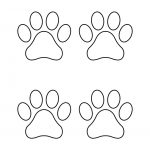 Paw Print Template Shapes | Blank Printable Shapes   Free Printable Shapes Templates