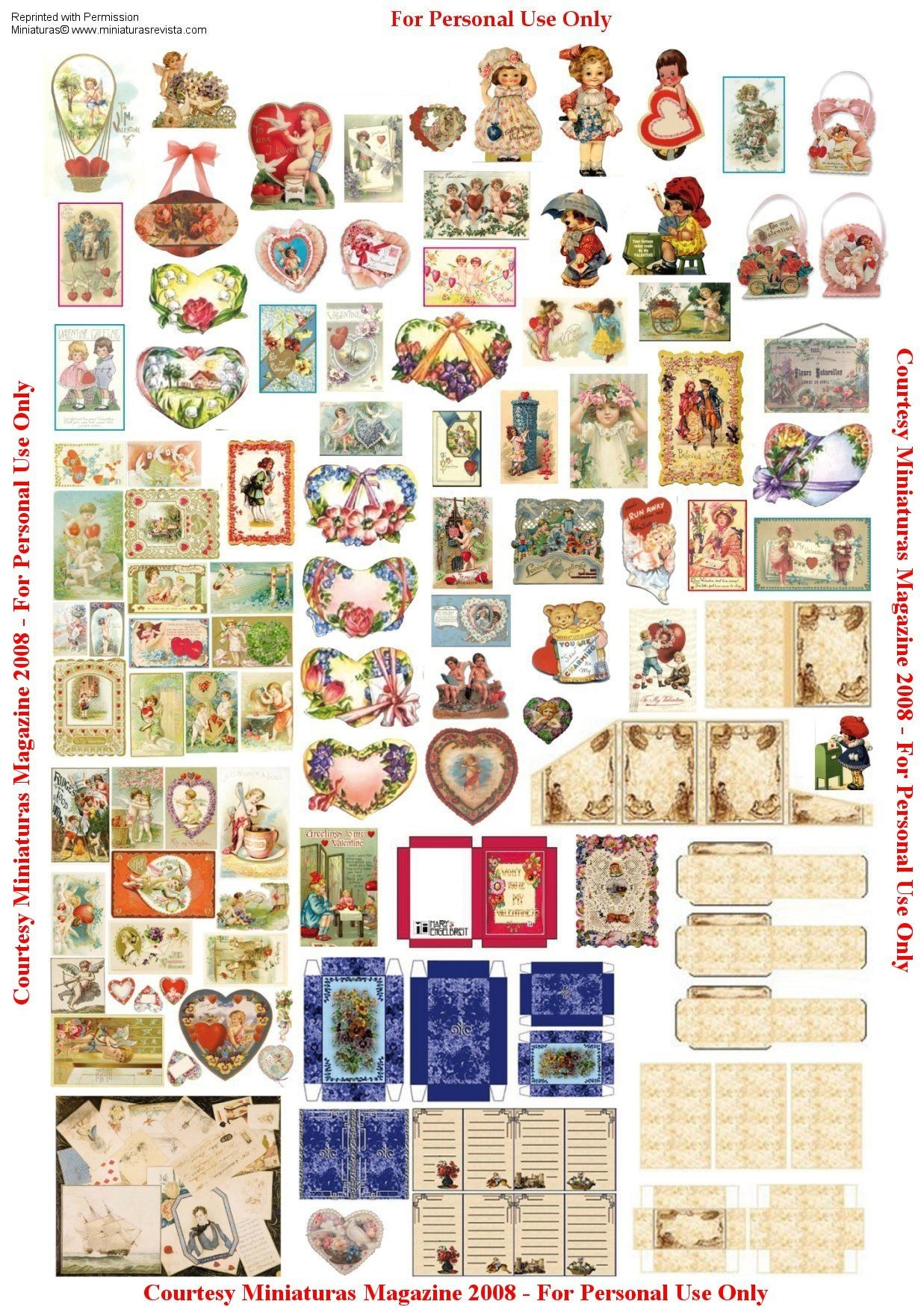 Perfumery Dollhouse Printable Boxes | Valentine Boxes • Pretty - Free Miniature Printables