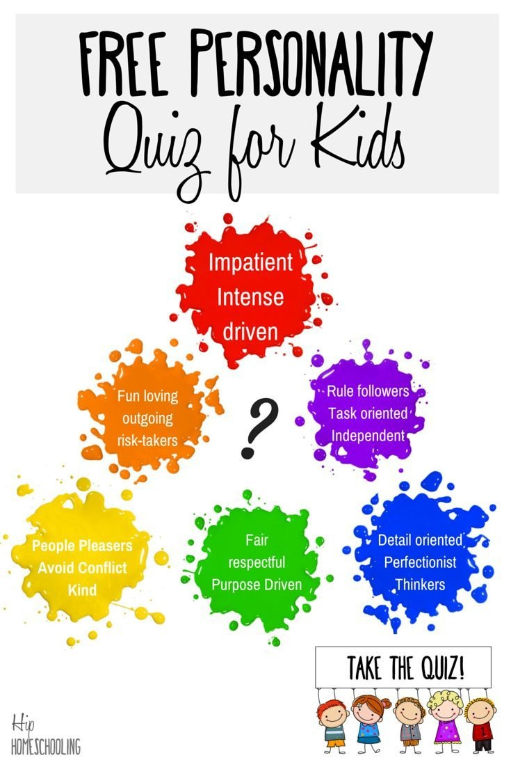 Personality Test For Kids: Take The Free Quiz Today! | Homeschooling - Free Printable Personality Test For High School Students