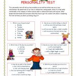 Personality Test I. Worksheet   Free Esl Printable Worksheets Made   Free Printable Personality Test For High School Students
