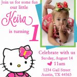 Personalized Hello Kitty Birthday Invitations   Updated!   Free   Card Maker Online Free Printable