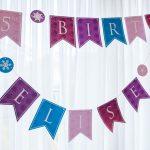Personalized Princess Happy Birthday Banner Printable Pdf For 'all   Free Happy Birthday Banner Printable Pdf