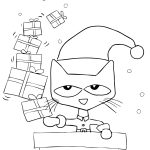 Pete The Cat Saves Christmas Coloring Page | Free Printable Coloring   Free Christmas Coloring Printables