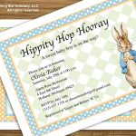 Peter Rabbit Baby Shower Invitation Vintage Peter Rabbit | Etsy   Free Peter Rabbit Party Printables