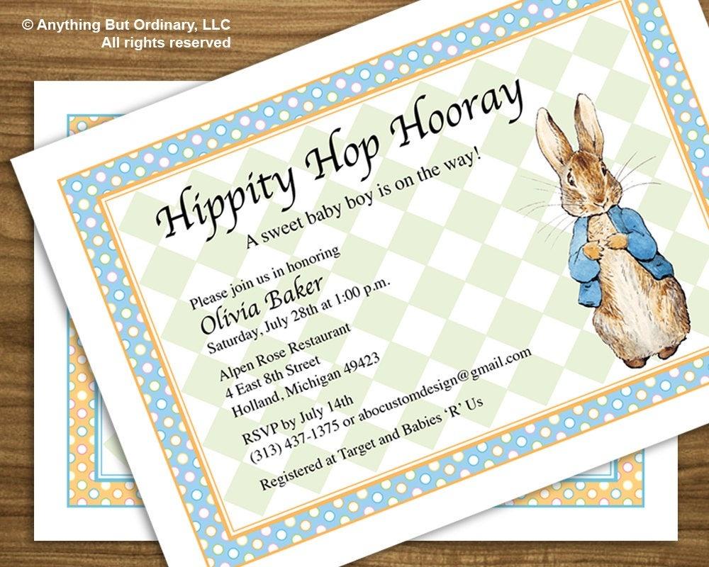 Peter Rabbit Baby Shower Invitation Vintage Peter Rabbit | Etsy - Free Peter Rabbit Party Printables