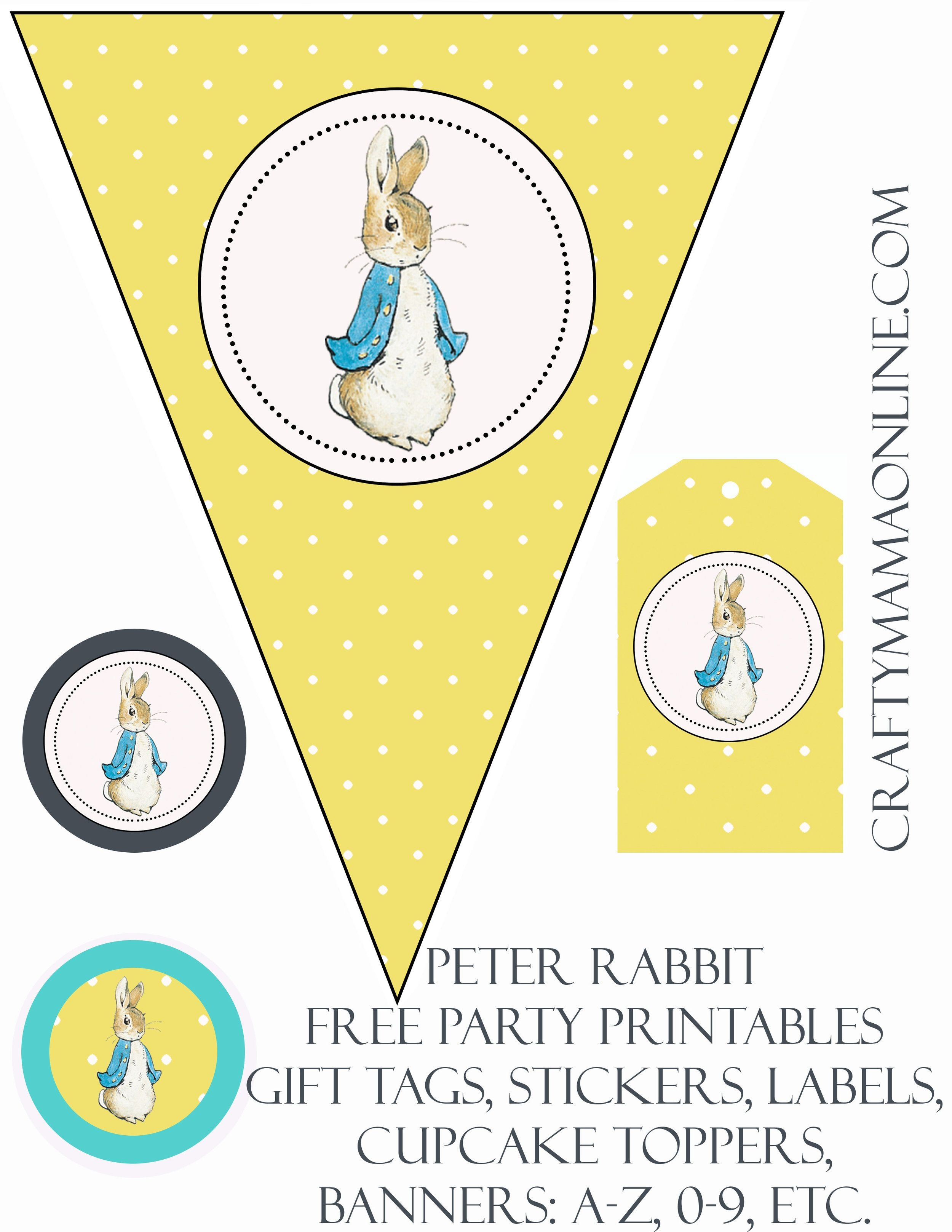 Peter Rabbit Free Party Printables | Prints | Peter Rabbit, Peter - Free Peter Rabbit Party Printables