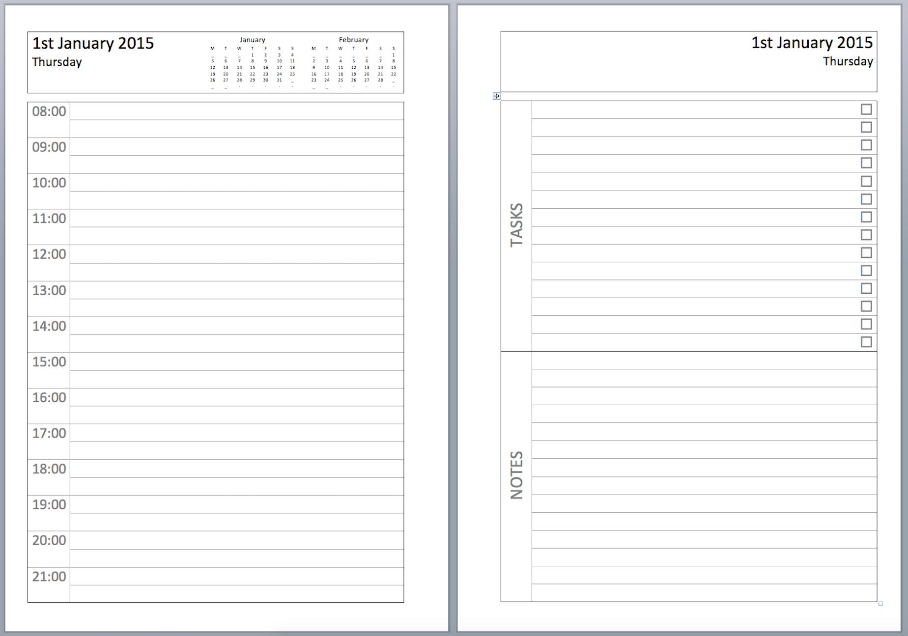Philofaxy: Diary Inserts - Free Filofax Printables