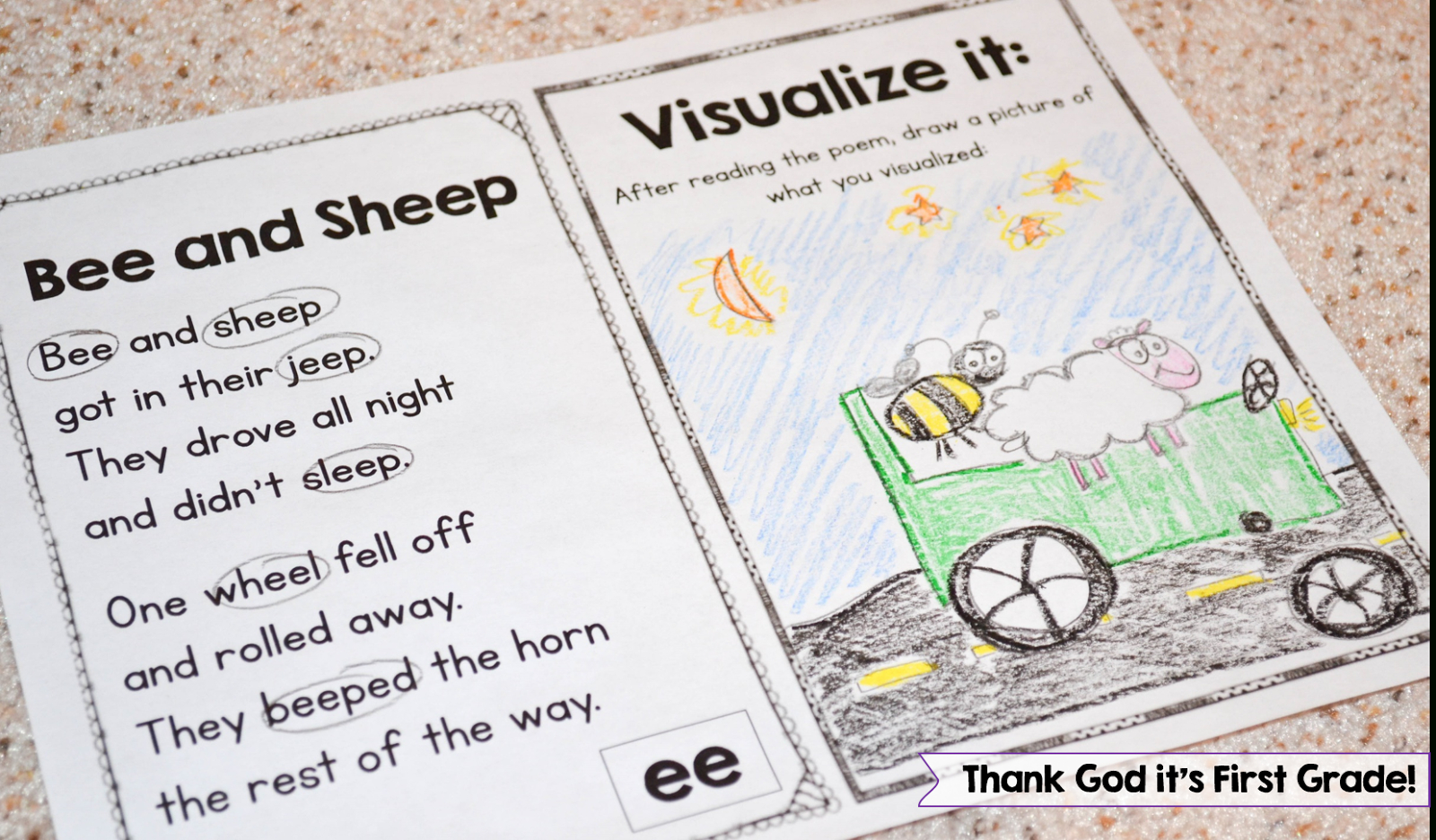 Phonics Poetry For Grades K-2! (Susan Jones Teaching) | Kindergarten - Free Printable Word Family Poems