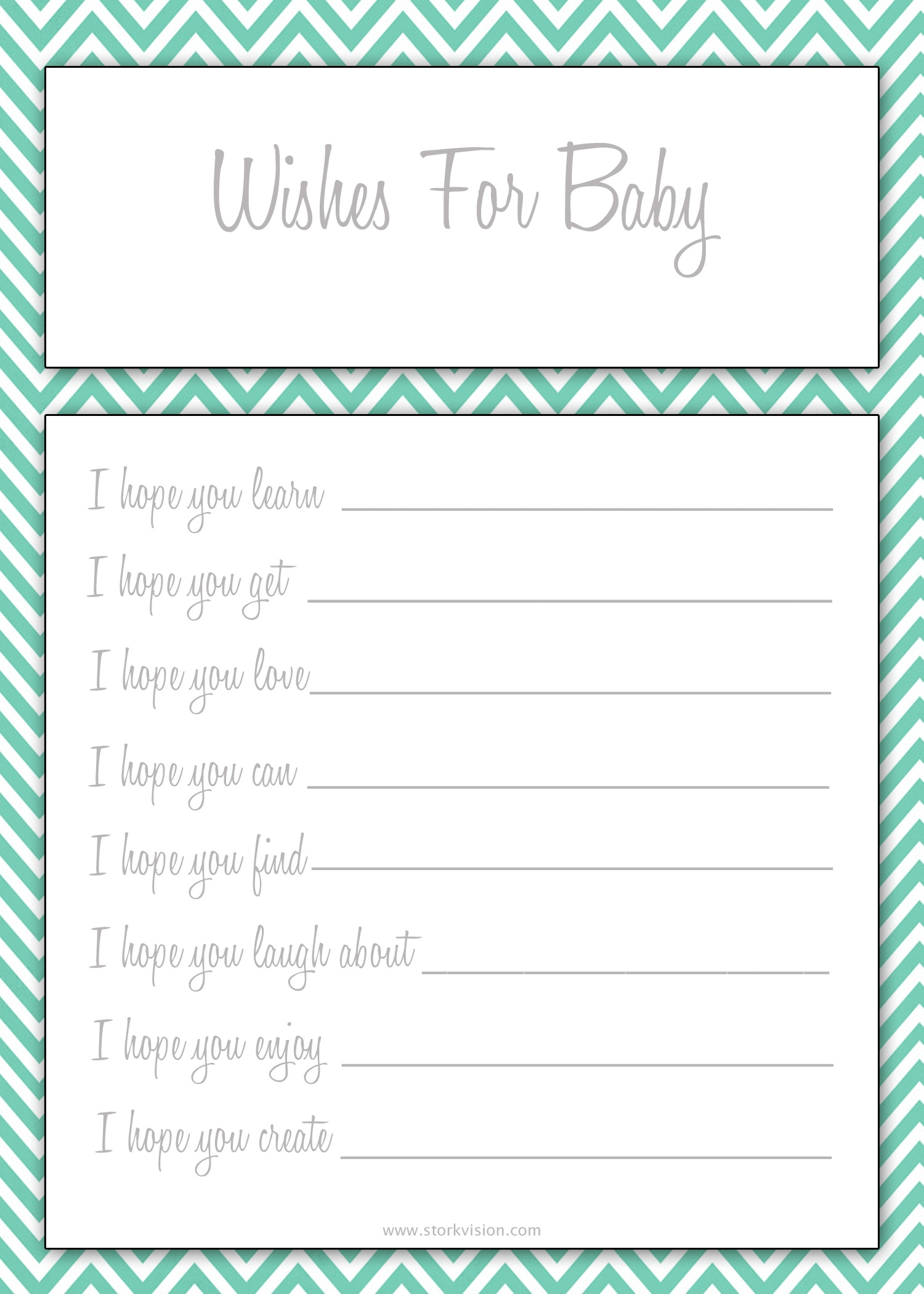 Photo : Free Baby Shower Printable Image - Free Printable Baby Shower Decorations For A Boy