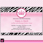 Photo : Pink And Brown Zebra Image   Free Printable Pink Zebra Baby Shower Invitations