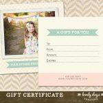 Photography Gift Certificate Ideas | Lazine   Free Printable Photography Gift Certificate Template