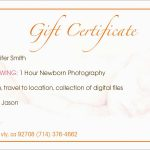 Photography Gift Certificate Template Free Amazing Printable Gift   Free Printable Photography Gift Certificate Template