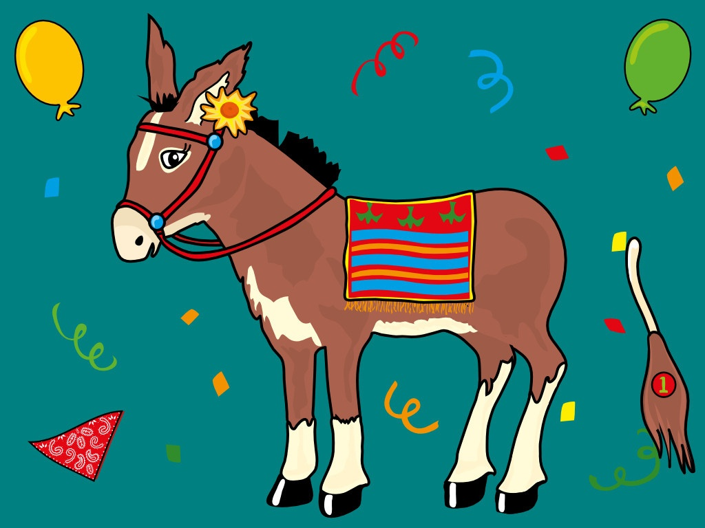 Pin The Tail On The Donkey Drawing At Paintingvalley | Explore - Pin The Tail On The Donkey Printable Free