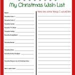 Pinbecky Stout On Christmas!!! | Christmas Wish List Template   Free Printable Christmas Wish List