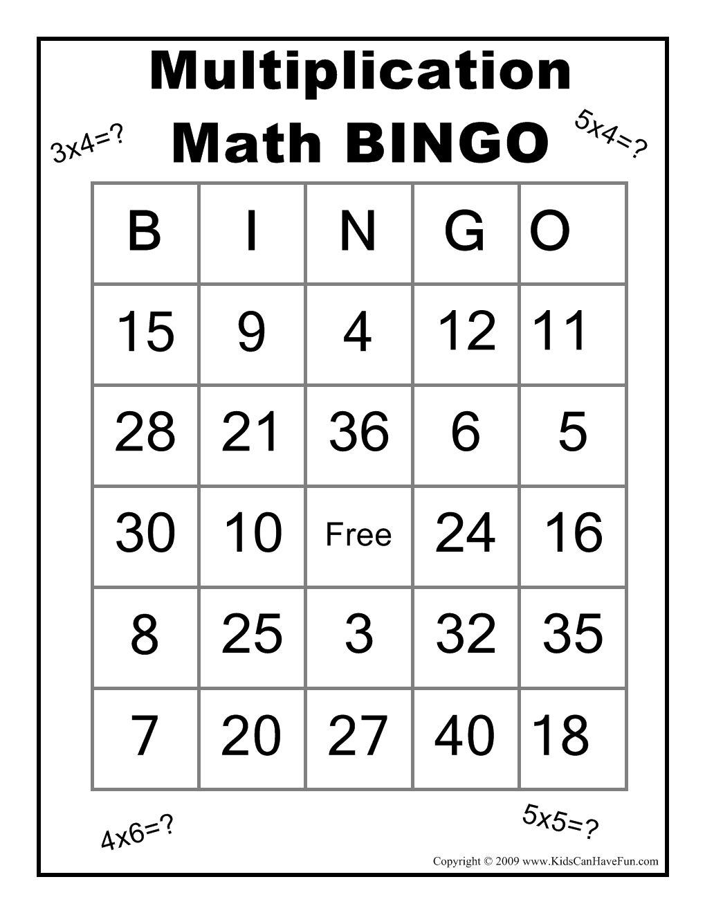 Pincheryl Adams On Math | Math Bingo, Math Classroom, Math - Free Printable Multiplication Bingo