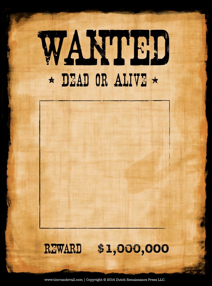 Pincrafty Annabelle On Cowboy Printables | Wanted Template - Wanted Poster Printable Free