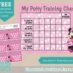 Pindiane Dyess On Potty Training | Potty Training, Potty   Free Printable Minnie Mouse Potty Training Chart