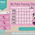 Pindiane Dyess On Potty Training | Potty Training, Potty   Free Printable Minnie Mouse Potty Training Chart