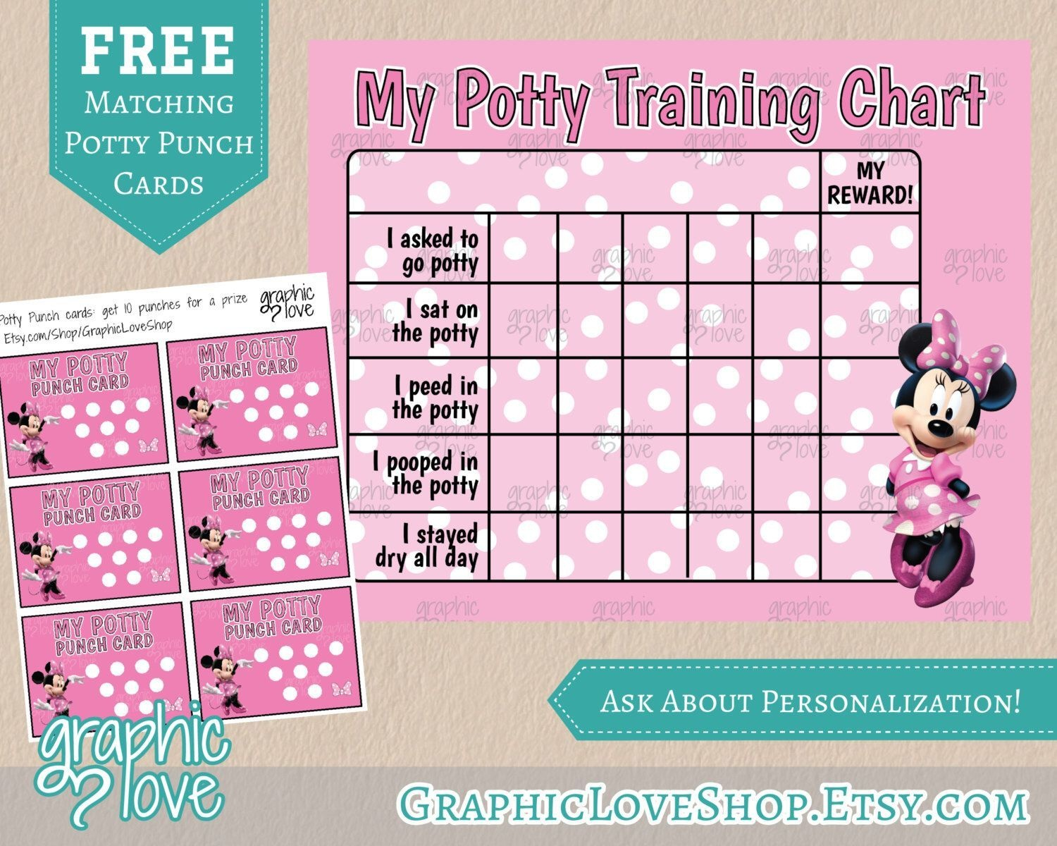 Pindiane Dyess On Potty Training | Potty Training, Potty - Free Printable Minnie Mouse Potty Training Chart