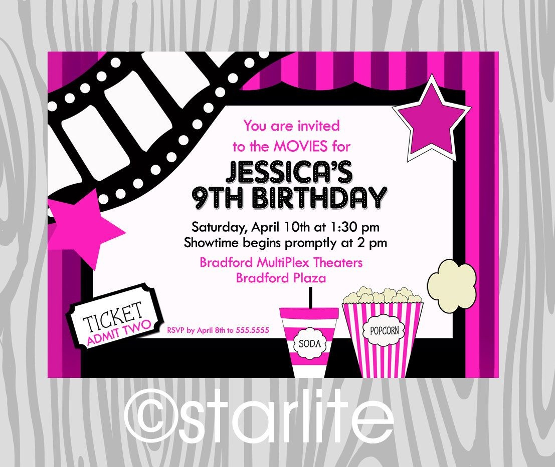 Pindrevio On Free Printable Birthday Invitation In 2019 | Kids - Movie Birthday Party Invitations Free Printable