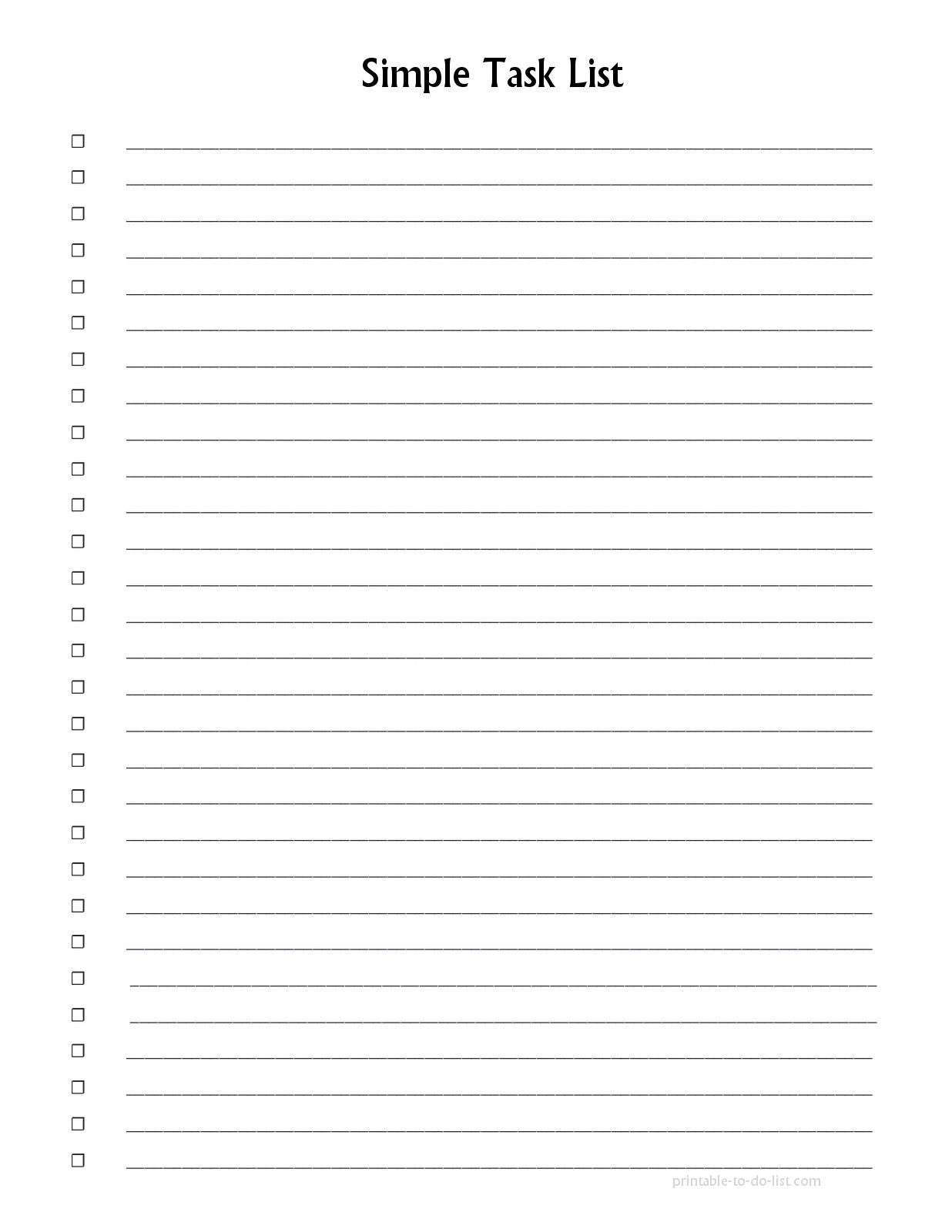 Pinemily Coker On Day Planner | Checklist Template, Wedding List - Free Printable List Paper