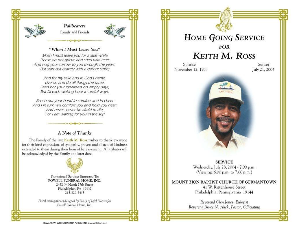 Pineva On Eva Williams | Funeral Program Template Free, Program - Free Printable Funeral Programs