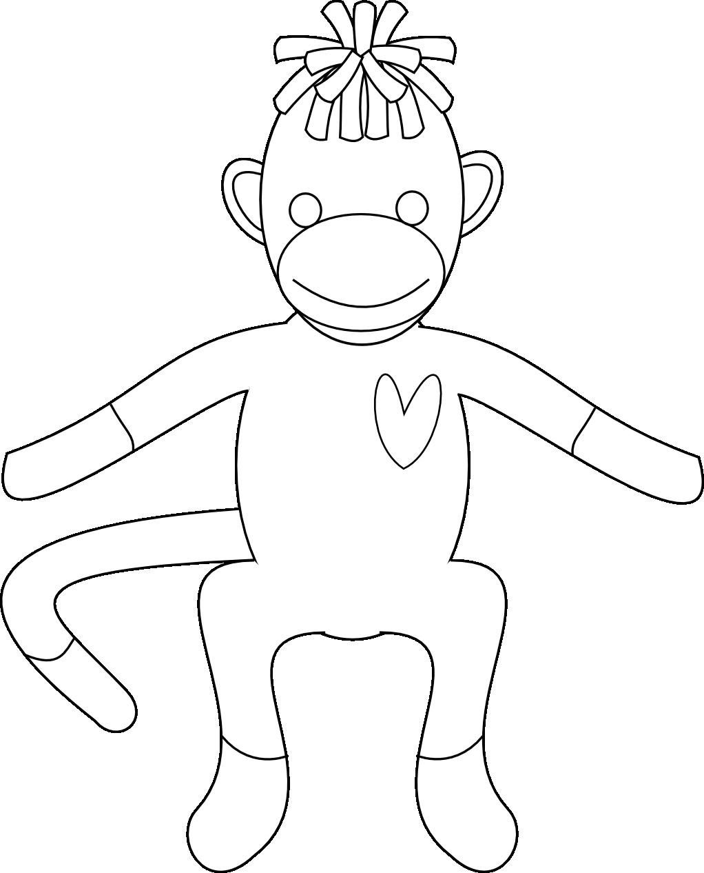 Pinjackie Schreiner On Fall School | Monkey Coloring Pages, Sock - Free Printable Sock Monkey Pictures