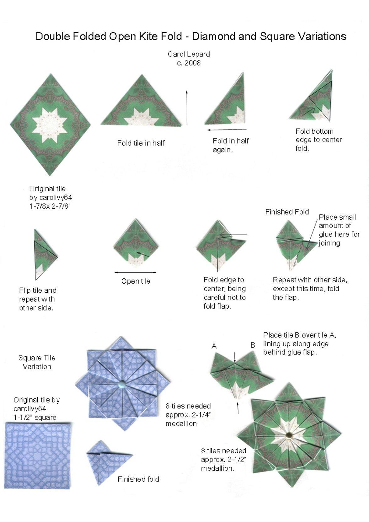 Pinjane Martin On Teabag Folding | Origami Diagrams, Origami - Free Printable Tea Bag Folding Patterns