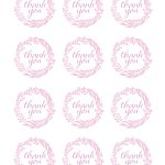 Pink And Gold Birthday Party Ideas | Gift Ideas And Gift Wrapping   Free Printable Thank You Tags For Birthday Favors