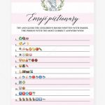 Pink Baby Shower Emoji Pictionary Printablelittlesizzle   Emoji   Emoji Baby Shower Game Free Printable