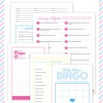 Pink Baby Shower W/ Printable Baby Shower Games | Pregnant : Baby   Free Baby Shower Printables