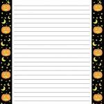Pinkathy Lee Miller On Halloween | Free Printable Stationery   Free Printable Halloween Stationery Borders