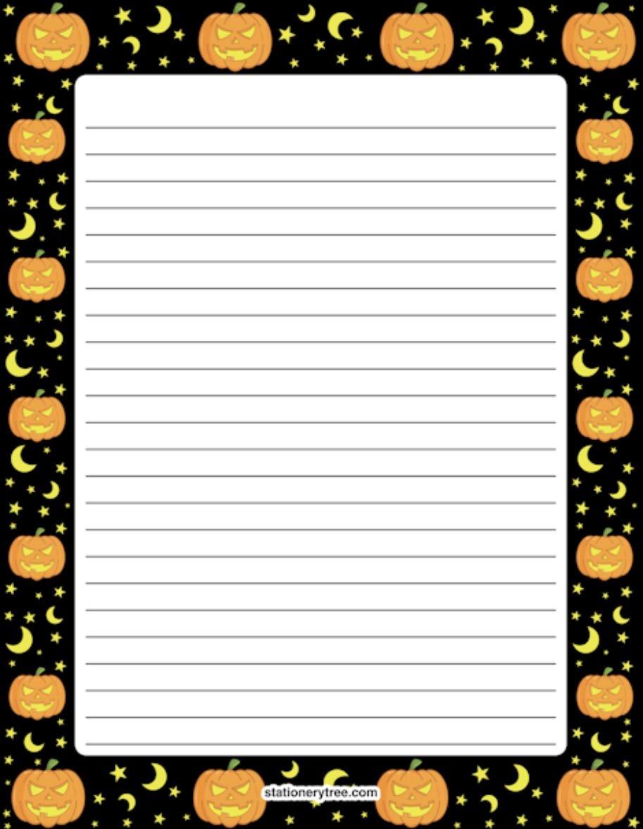 Pinkathy-Lee Miller On Halloween | Free Printable Stationery - Free Printable Halloween Stationery Borders