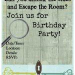 Pinkiki On Γενέθλια   Escape Room, Birthday Party Invitations   Printable Escape Room Free