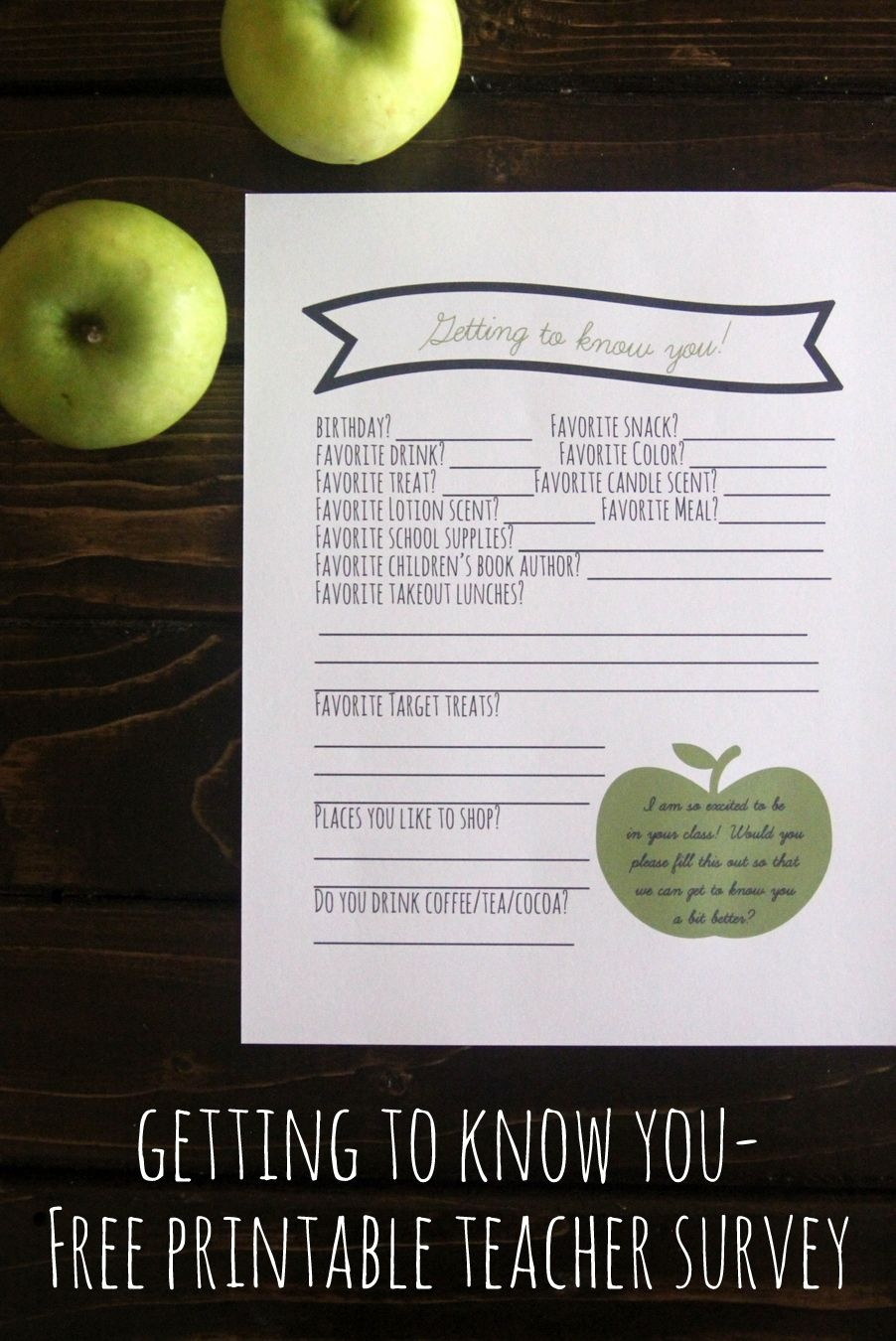 Pinkirstin Gentry On Kojodesigns | Teacher Favorite Things - Free Printable Survey Generator