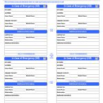 Pinlola Gambino On College Tips | Id Card Template, In Case Of   Free Printable Contact Forms