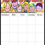 Pinmara Rivera On Sunday School Ideas | Sunday School Kids   Sunday School Attendance Chart Free Printable