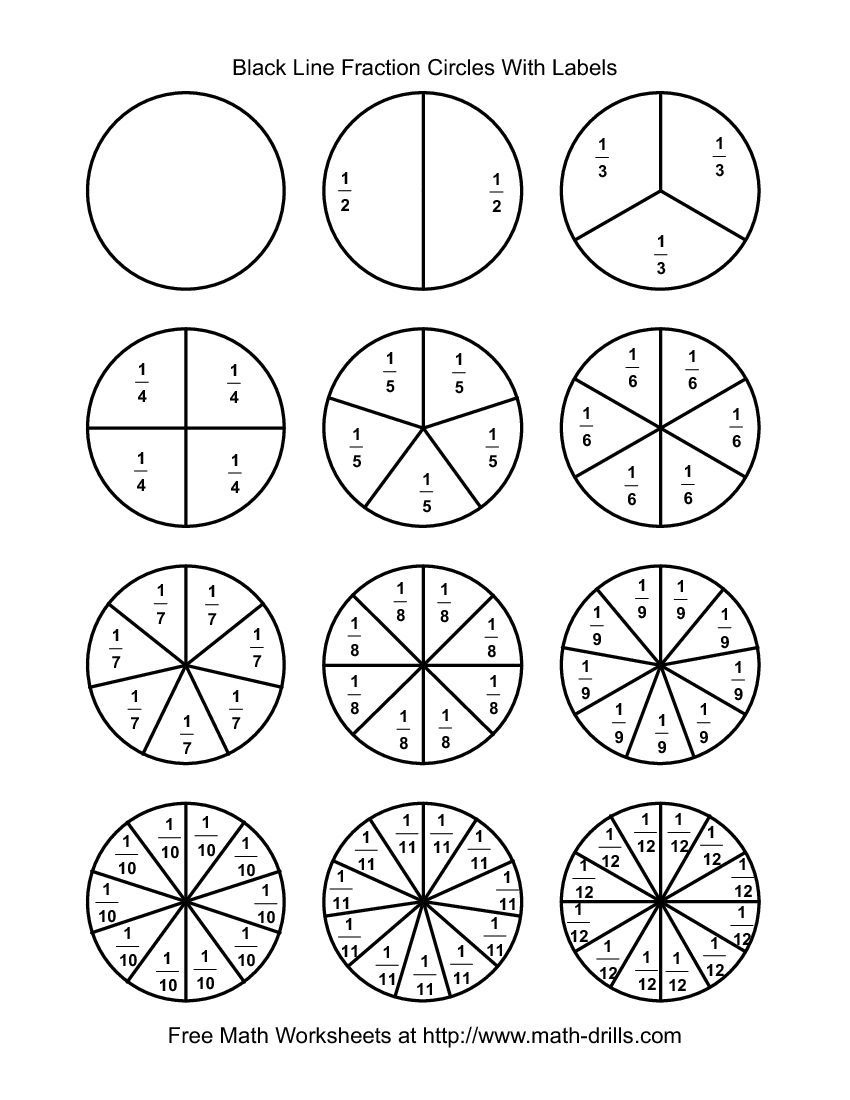 Pinrachel Peters On Home School | Fractions Worksheets, Math - Free Printable Blank Fraction Circles