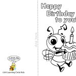 Pinreader Bee On Birthday Celebration   Bee Style | Free   Free Printable Birthday Cards For Kids