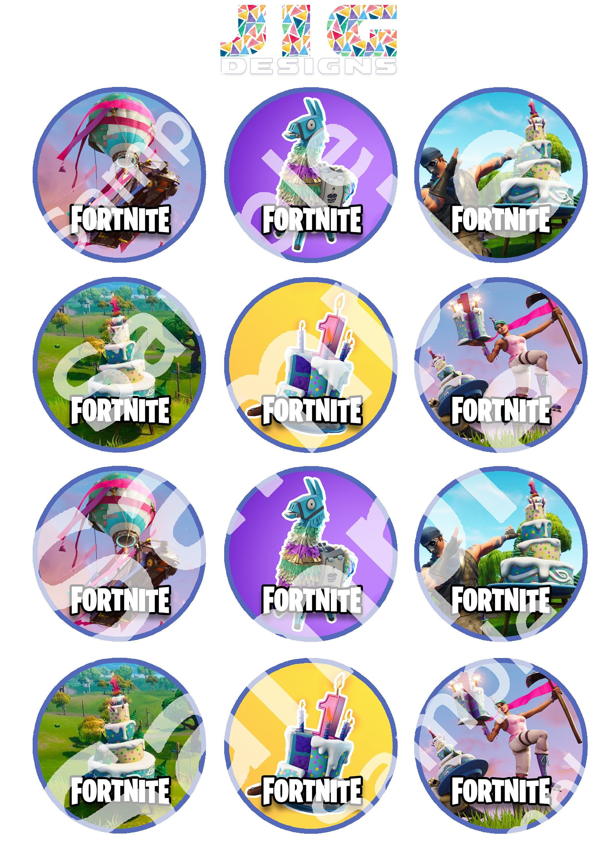 Pinspencer Geyer On Cool Ideas In 2019 | Cupcake Toppers - Free Printable Fortnite Cupcake Toppers