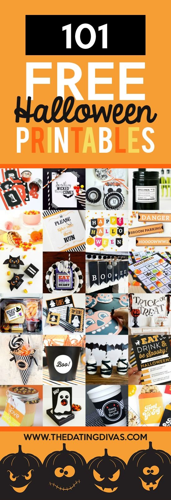 Pinterest - Free Printable Halloween Party Decorations