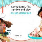 Pinterest   Free Printable Moana Birthday Invitations