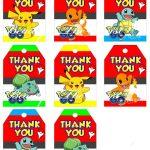Pokemon Go Favor Tags, Pokemon Go Thank You Tags, Pokemon Go Gift   Free Printable Pokemon Thank You Tags