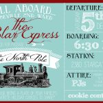 Polar Express Party Invitation   Party Like A Cherry   Free Polar Express Printable Tickets