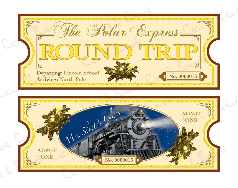 Polar Express Ticket Template Printable | Polar Express | Polar - Free Polar Express Printable Tickets